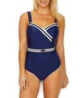 Panache NAVY/IVORY Portofino Underwire One-Piece Swimsuit, US 38D