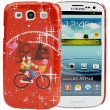 Hardcase Star Pattern für Samsung i9300 Galaxy S3 Valentinstag / Love rot Etui