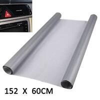 Car 3D Carbon Fibre Vinyl Wrap (Air/Bubble Free) Silver 1.5mx600mm Sheet Sticker