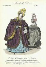PETIT COURRIER DES DAMES   MODES DE PARIS   FASHION PLATE   NOV 1834