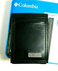 Columbia Men's Front Pocket Wallet Magnetic Money Clip RFID Block BLK 31CO160021