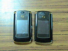 lot of 2 Motorola RAZR  V8 (Unlocked) gold color GSM Phone not working or part