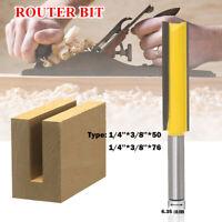 """1/4 """"x 3/8"""" Fresa per taglierina extra lunga a doppio taglio utensile per legno"""