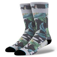 Stance Homme Gencives Chaussettes. Noir Tropical À Fleurs Arch Support Large ras-du-UK 9-12