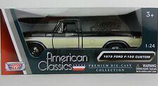 1:24 MOTOR MAX *1979 FORD F150 PICKUP TRUCK* Black & Cream *DIECAST* NIB!
