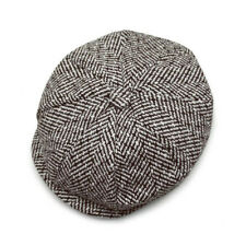 Mens Women Herringbone Newsboy Ivy Cap Bunnet Beret Golf Tweed Cabbie Gatsby Hat