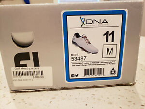 FootJoy DNA Spiked Athletic Genuine Leather Waterproof Golf Shoes White 11M