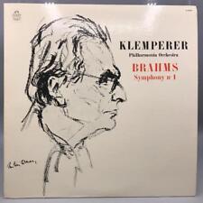 Vintage Brahms Symphony No. 1 Klemperer Philharmonic Record Vinyl LP Album