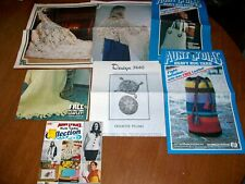 Aunt Lydia's & Other Patterns Crochet Purse Laundry Bag Shawl Pillows Vintage