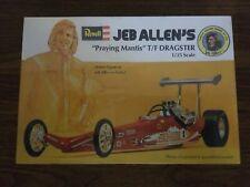 New listing Revell Jeb Allen'S Praying Mantis Top Fuel Dragster Model Kit 1/25 Brand New