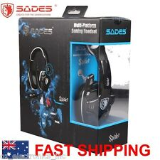 SADES SPIDER 922 PC PS3 PS4 XBOX 360 Gaming Headset Microphone Chat Genuine USB