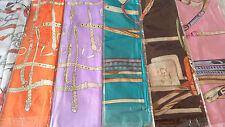 Joblot 24 un. Imitación Seda scarf/scarves Venta Por Mayor Nuevos 90x90 Cm Lote C