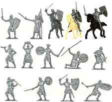 Jecsan - 20 Foot and Mounted Crusaders without horses - unpainted 60mm plastic