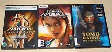 3 PC SPIELE SET TOMB RAIDER - DIE CHRONIK - LEGEND - ANNIVERSARY