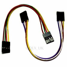 2 X 15cm 4pin Arduino Jumper Cables Sensor Shield EQUIV UK SELLER - #A-188