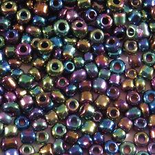 Perles de Rocailles en verre Opaque 2mm Pourpre AB 20g (12/0)