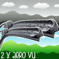 "Ford Transit 2.4 28/24"" Aero VU Front Retro Wiper Blades Flat Window Upgrade XE3"