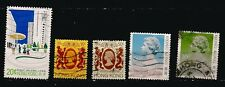 110T2 HONGKONG ,5 timbres obliteres , usages courants