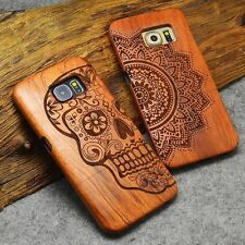 Natural Wooden Wood Phone Case Cover For Apple iPhone X 6s 8 Plus Samsung Phones