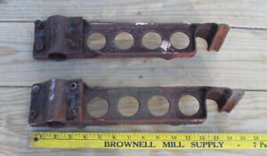 2 ANTIQUE VINTAGE LARGE SET BARN  INDUSTRIAL DOOR HINGES HEAVY SOLID