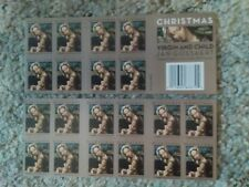 PERFECT USPS FOREVER Stamps of 'VIRGIN AND CHILD' BOOKLET-20 ct.-FREE SHIP!