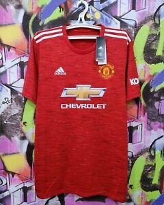 Manchester United FC 2020 2021 Home Football Shirt Soccer Jersey Adidas Mens XL