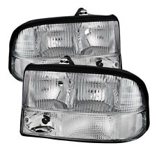 GMC 98-04 S15 Sonoma 98-01 Jimmy Bravada Chrome Housing Replacement Headlights
