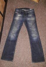 Dark Blue Denim DIESEL INDUSTRY ZATINY Regular Bootcut Faded Leg Jeans W 28 L 32