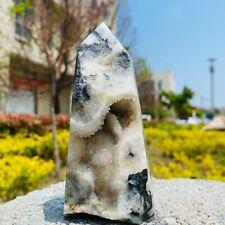 New listing Natural Sphalerite Crystal Obelisk Crystal cave Mine standard With fluorite 473G