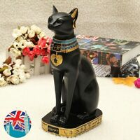 Egyptian Cat Vintage Bastet God Figurine Pharaoh Statue Home Decor DIY Black