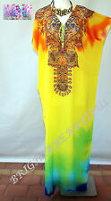 KAFTAN EMBELLISHED NEW long silk crepe stunning 16/22 & 14/18 summers day $99