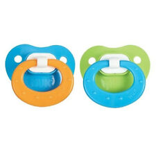 NUK Juicy Fashion Orthodontic 18-36 Months 2 Pack Silicone Pacifier Blue Green