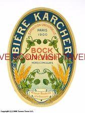 Scarce France Karcher Bock Superiur Biere Tavern Trove French Beer Label