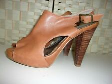 Size 5 tan leather sandals shoes from Next.
