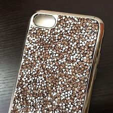 For iPhone 7 / 8 - CRYSTAL DIAMOND RHINESTONE STUDS TPU RUBBER GUMMY CASE COVER