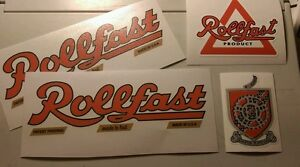 Rollfast decal set 4 vintage style vinyl decals to restore your Rollfast bicycle