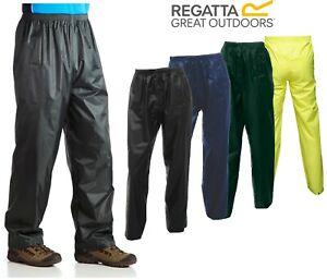 Regatta Stormbreak Waterproof Rain Over Trouser Pants Work Walking Fishing S 3XL