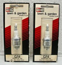 (2pk) Cj14 Champion Spark Plug for Lawn Mowers & other Equipment - stock no. 846