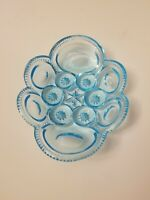 LE Smith Moon and Star Glass Dish Bowl - Blue RARE