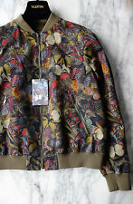 NEW VALENTINO *RARE Authentic Butterfly Print Camubutterfly Camo Bomber Jacket