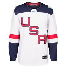 ad15550be adidas 2016 World Cup of Hockey Team USA Premier White Jersey Size 2xl
