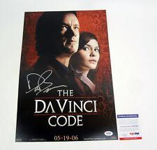 Dan Brown Author Signed Autograph The Da Vinci Code Movie Poster PSA/DNA COA