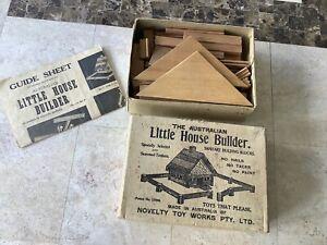 The Australian Little House Builder.1950s?One Set.Wooden building Blocks.