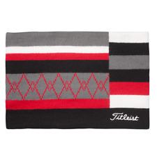 Titleist Japan Golf Reversible Knit Neck Warmer Aw9Nw 2019 Limited Black Red