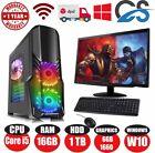 "Cit Gaming Pc Computer With 19"" Monitor Core I5 16gb 1tb 6gb Gtx1660 Windows 10"