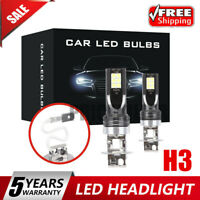 2x H3 CAR LED Headlight Kits 110W 20000LM FOG Light Bulbs 6000K Driving DRL Lamp