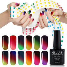 Gel Lab 3-way Thermal Change  UV LED GEL Polish Manicure Lacquer Top Base Coat