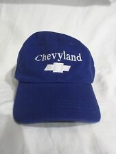 Blue Chevyland Embroidered Silver logo 100% cotton One size fits all Cap Hat
