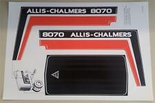 Allis-Chalmers 8070 Pedal Tractor Replacement ERTL Decal Set Adhesive Back