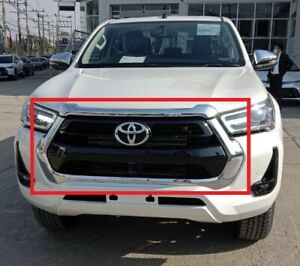 GENUINE TOYOTA HILUX FRONT GRILLE COMPLETE CHROME REVO DOUBLE CAB 4WD OEM 2021